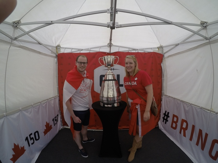 He was so excited to see the Grey Cup