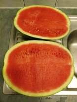 Freshly sliced