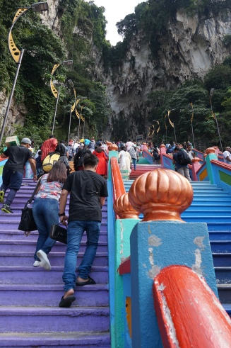 The steps up